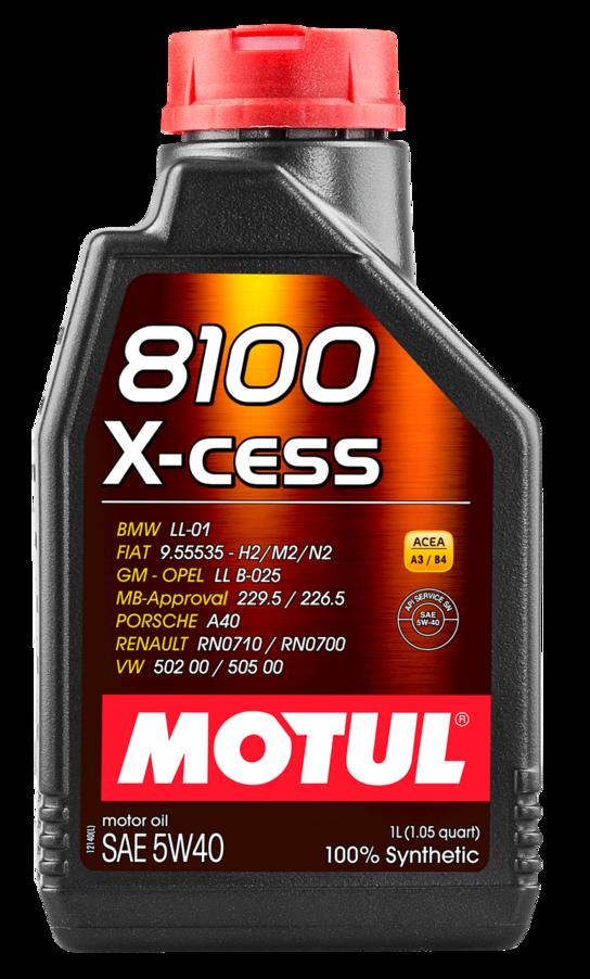 МOTUL 8100  X-Cess, 5w-40,  синтетика, 1л, Франция
