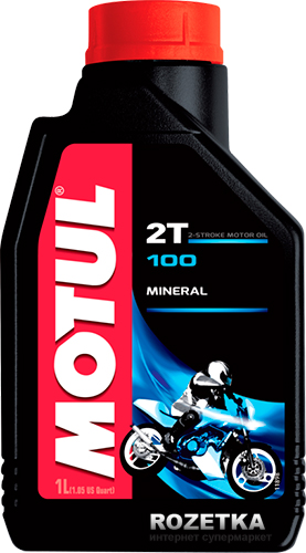 МOTUL 100 Motomix 2Т, для 2-хтактных, 1л, Франция