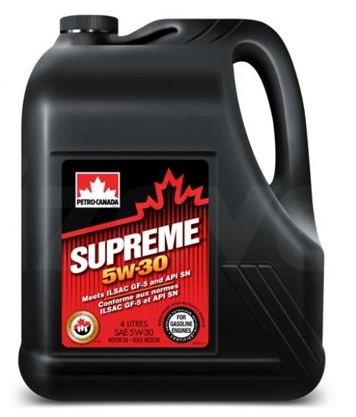 Petro-Canada SUPREME 5W30, п/син, 4л, Канада