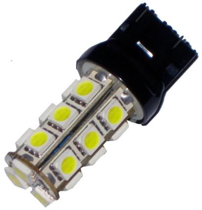 Светодиодная лампа, SKYWAY, Т20 (W21W)12V 18SMD 2конт, б/ц белая