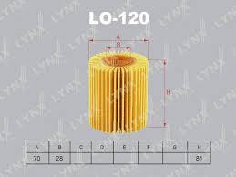 LYNX, Фильтр масляный,LO-120/О-115, Япония