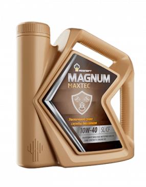 Роснефть Magnum Maxtec (замена Мaximum), 10w40 SL/CF, полусинтетика, 5л, Россия