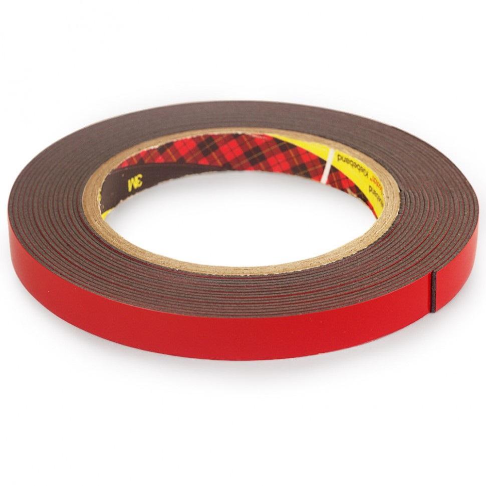 Скотч двухсторонний «3М» 6мм*5м, красный