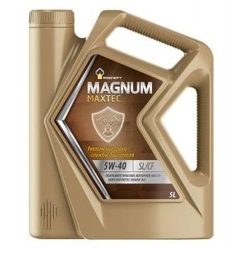 Роснефть Мagnum Maxtec, 5w40 SL/CF,  полусинтетика, 5л, Россия