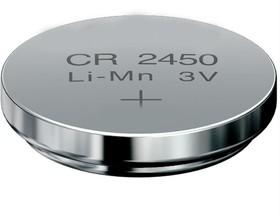Rexant CR2450 (3V, 580 mAh), литиевая батарейка, в блистере 1шт