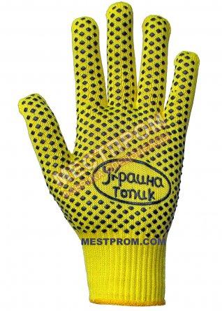Перчатки прорезиненные ЗЕЛЁНЫЕ жёлтым