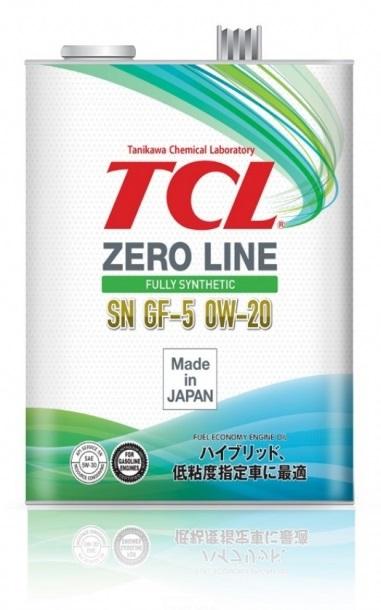 TCL Zero Line, 0W20, API SN/GF-5, моторное масло, синтетика, 4л, Япония