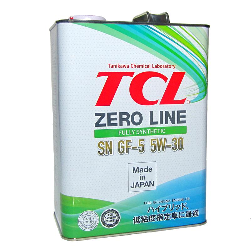 TCL Zero Line, 5W30, API SN/GF-5, моторное масло, синтетика, 4л, Япония