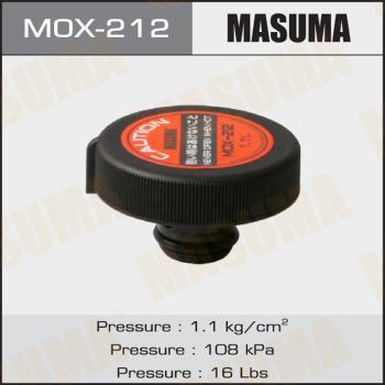 Крышка радиатора MASUMA, MОХ-212 1,1kg/cm2, 1шт, Япония