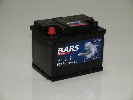 Аккумулятор BARS - 60 а/ч,обратный (нижнее крепление) Россия