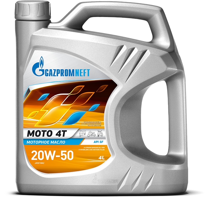 Gazpromneft, Мото 4Т 20w50 , масло четырехтактное, 4л, Gazpromneft