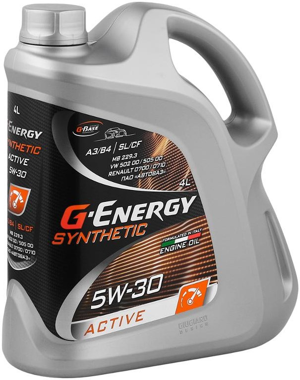 G-Energy 5W-30 Synthetic Active, SL/CF, синтетика, 4л, Россия