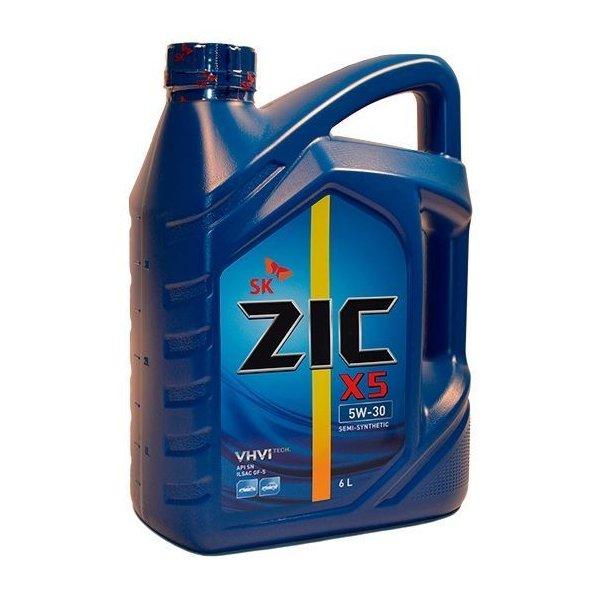 ZIC Х5, 5W30 SN, полусинтетика, 6л, Корея