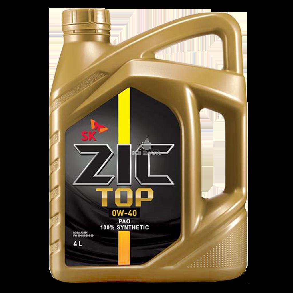 ZIC TOP, 0W40 SN, синтетика, 4л, Корея