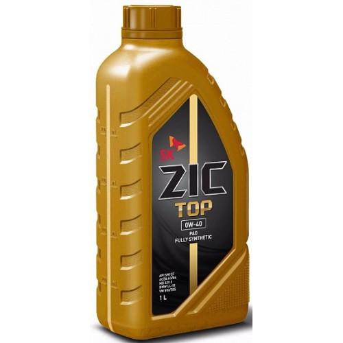 ZIC TOP, 0W40 SN, синтетика, 1л, Корея