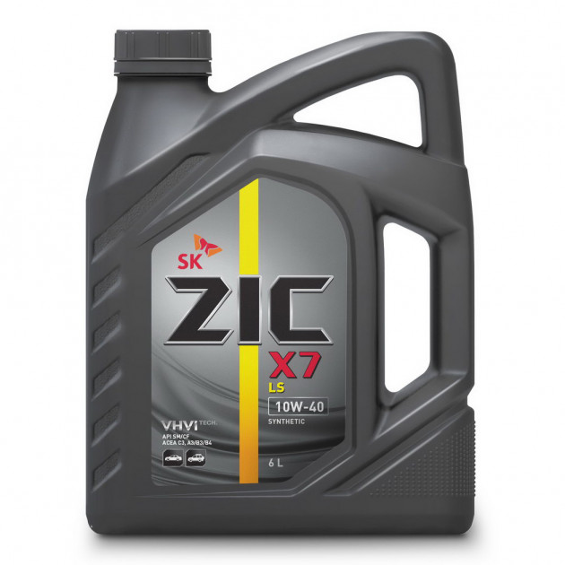 ZIC X7 LS, 10W40, SM/CF, синтетика, 6л, Корея