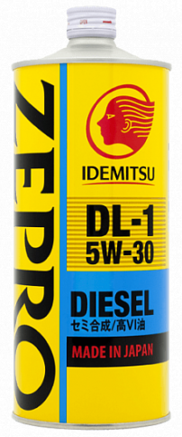 IDEMITSU ZEPRO DIESEL DL-1, 5w-30, синтетика, 1л, Япония