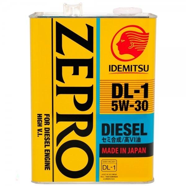 IDEMITSU ZEPRO DIESEL DL-1, 5w-30, синтетика, 4л, Япония