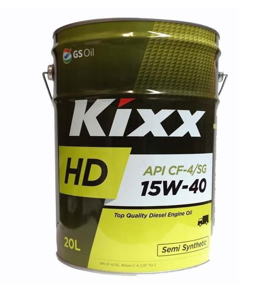 Kixx HD 15W40, CF-4, DIESEL, полусинтетика, 20л, Корея