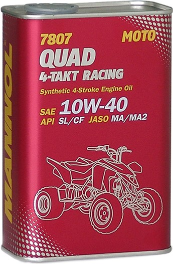 МАNNOL 4T 10w40 SL/CF (JASO MA/MA2) Racing Quad синт.1л, квадроцикл Германия
