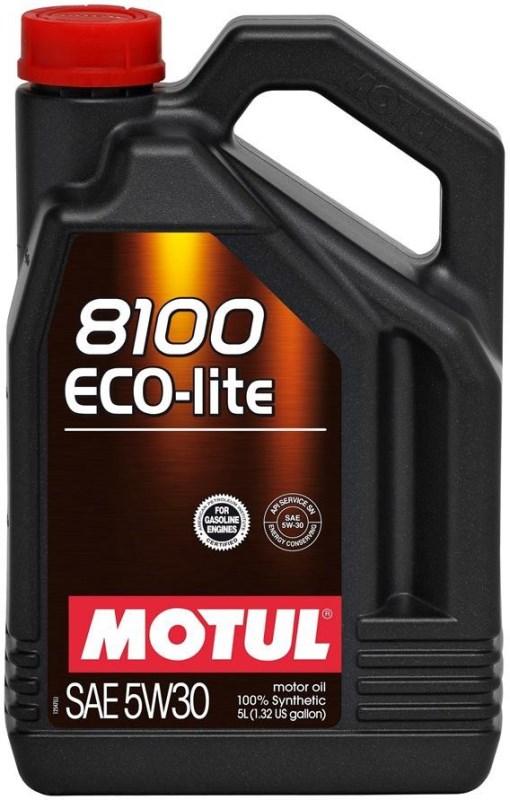 АКЦИЯ! МOTUL 8100 Eco-Lite, 5w-30, синтетика, 5л, Франция