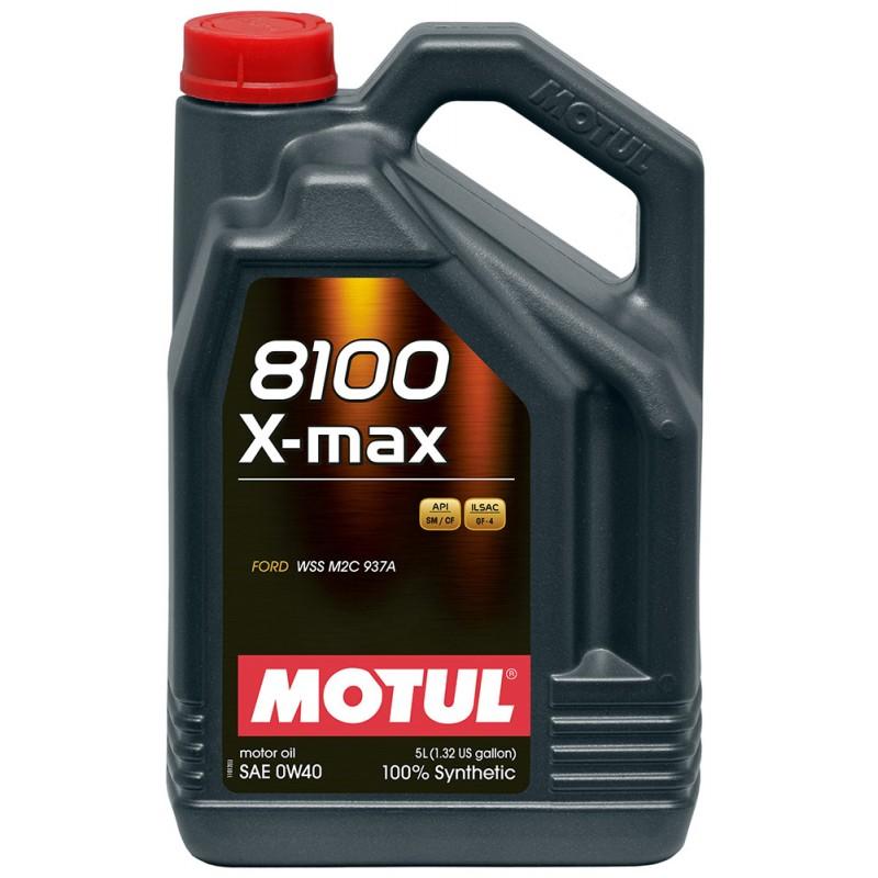 МOTUL 8100 X-Max, 0w-40 (АКЦИЯ 5 по цене 4-х л.), моторное масло, синтетика, 5л, Франция