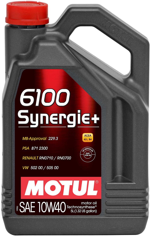 МOTUL 6100 Synergie, 5w-40, 5л, Франция