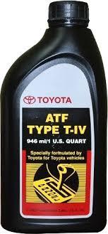 Toyota ATF type T-IV, масло для АКПП, синтетика, 0,946л, США