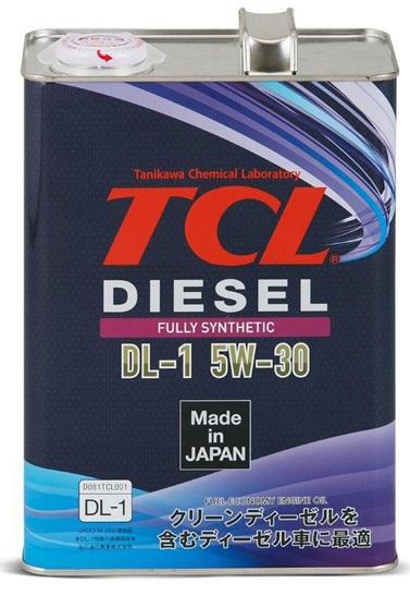 Акция Масло TCL, 5W30, Diesel, DL-1, синтетика, 4л, +Ароматизатор E GIGA Parven. Япония