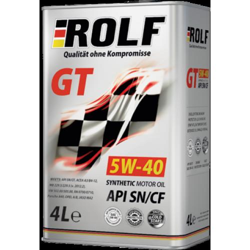 ROLF 5w40 GT SN/CF синтетика. 4+1 л.