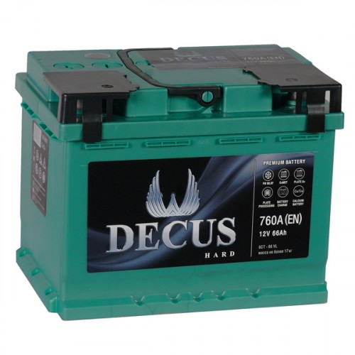 Аккумулятор DECUS 66 а/ч R (правый) О (обратная полярность)