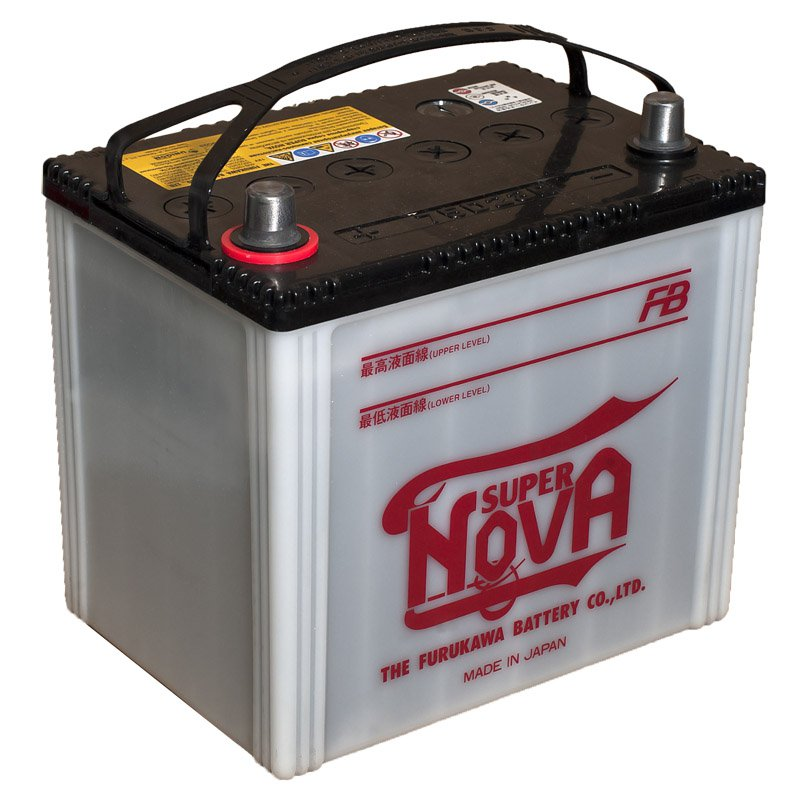 Аккумулятор FB SUPER NOVA 65 (75D23L) 620A о (обратная полярность), Япония