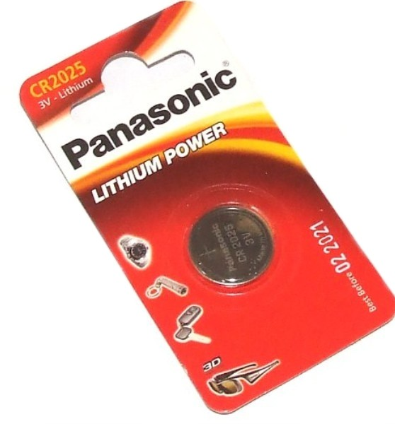 PANASONIC, батарейка, литий CR 2025, (блистер 1шт)