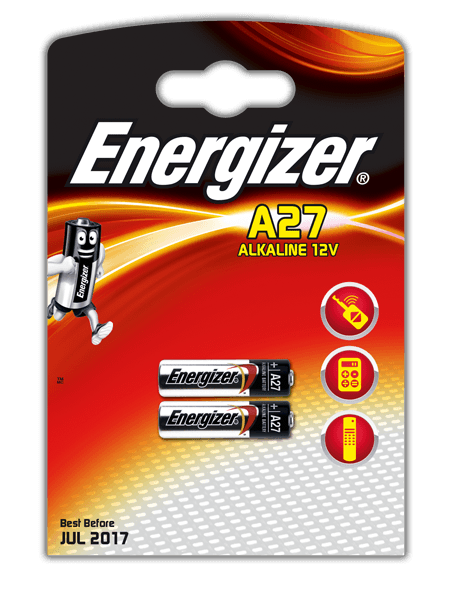 Energize Alkaline, A-27 батарейка, 2шт, Сингапур