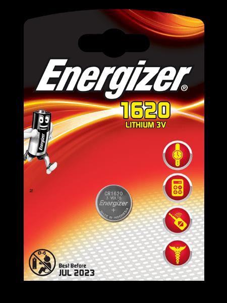 Energizer Lithium , CR1620 батарейка, 1шт, Китай