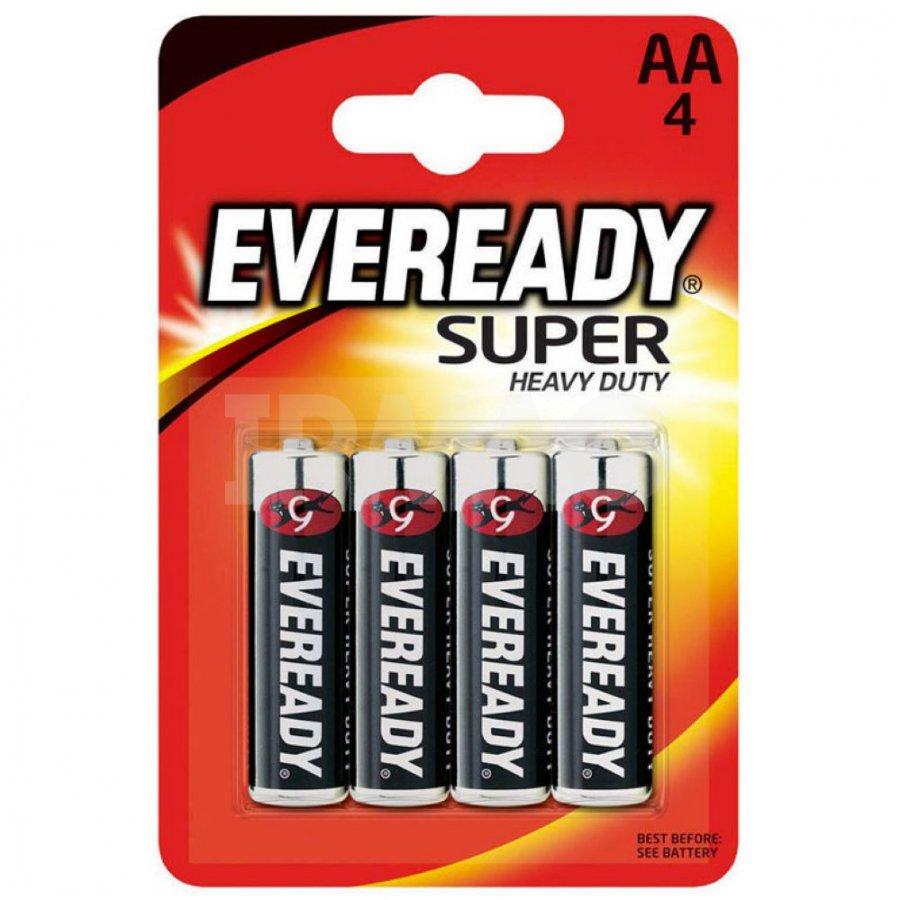 Energizer AA-4 Eveready Heavy Duty (пальчиковая), 1шт, Energizer Индонезия