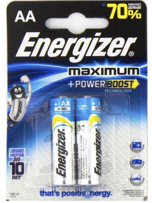 Energizer Maximum AA батарейка (пальчиковая), блистер 2шт, США
