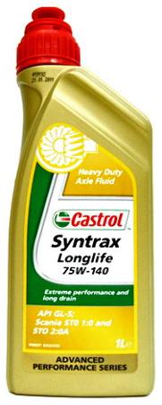 Castrol Syntrax Longlife, 75W140, трансмиссионное масло, синтетика, 1л, Бельгия