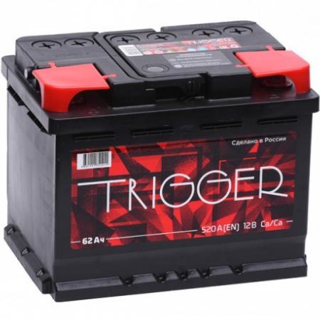 Аккумулятор TRIGGER 62 а/ч R (правый) О (обратная полярность), Россия
