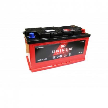 Аккумулятор UNIKUM 90 а/ч R (правый) О (обратная полярность)