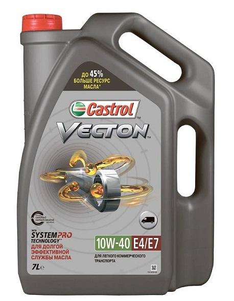 Castrol Vecton, 10W40 E4/E7, полусинтетика , 4л, Бельгия