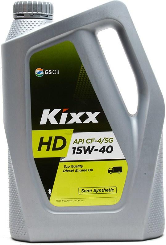 Kixx HD 15W40, CH-4, DIESEL, полусинтетика, 4л, Корея