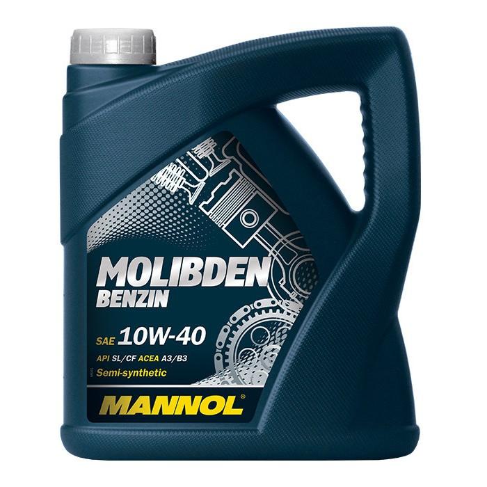Mannol, 10w-40, Molibden Benzin, SL/CF полусинтетика, 4л, EU
