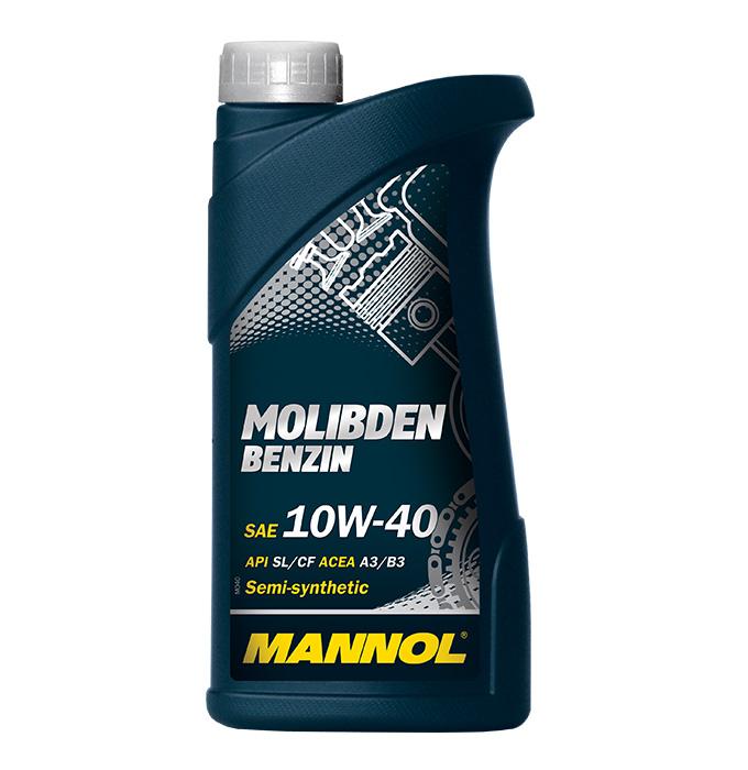 Mannol, 10w-40, Molibden Benzin, SL/CF полусинтетика, 1л, EU