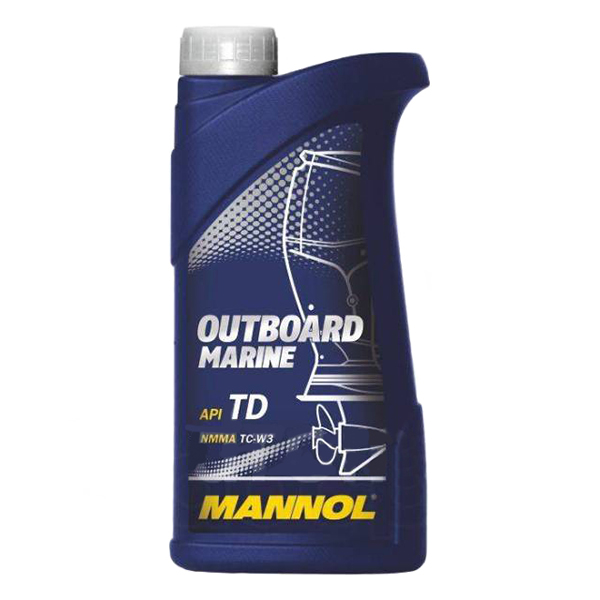 МАNNOL 2T Outboard Marinel TC-W3, для 2-хтактных, полусинтетика,1л, Германия