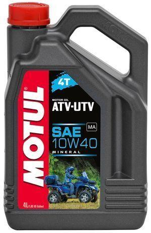 МOTUL ATV-UTV 4Т ,10W-40, для 4-хтактных, минеральное, 4л, Франция