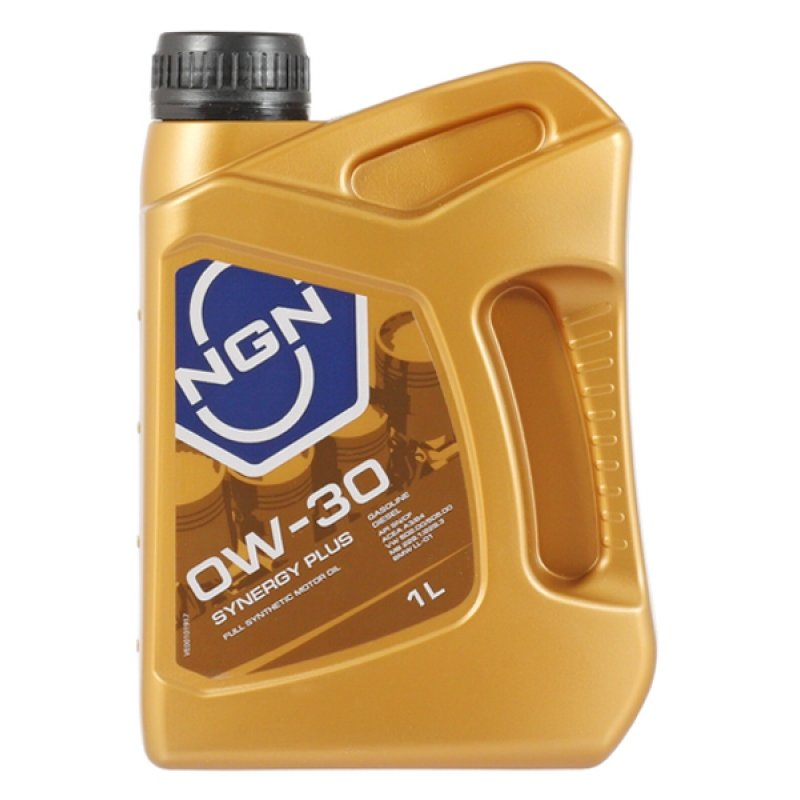NGN, SYNERGY PLUS, 0W-30 SL/CF, моторное масло, синтетика, 1л, Нидерланды