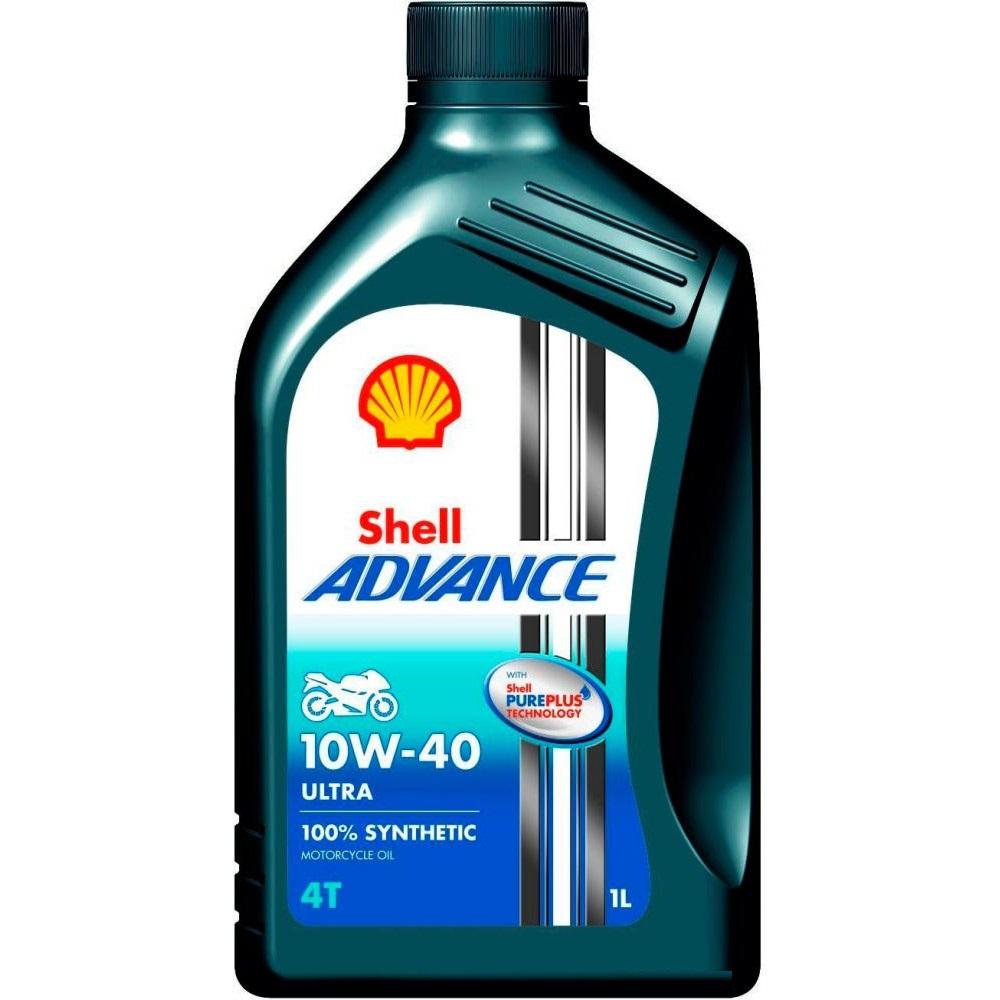 SHELL 4Т Ultra 10W40 Advance, SN; JASO MA2, синтетика, 1л, Финляндия