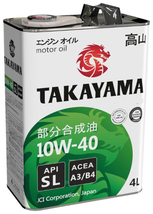 TAKAYAMA, 10w-40 SN, A3/B4, синтетика, 4л, Япония