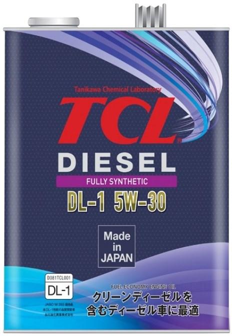 TCL, 5W30, Diesel, DL-1, синтетика, 4л. Япония